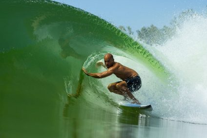Kelly Slater is a pioneer on waves—both natural and artificial, the latter of which is the topic of much discussion in surf communities around the world. Photo: Courtesy Kelly Slater Wave Co.
